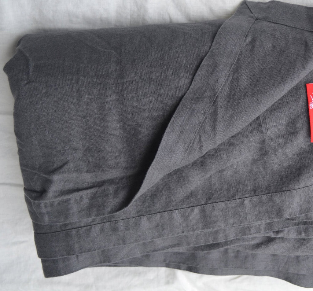 CLEARANCE: French Linen Bed Throw - Willow Grey