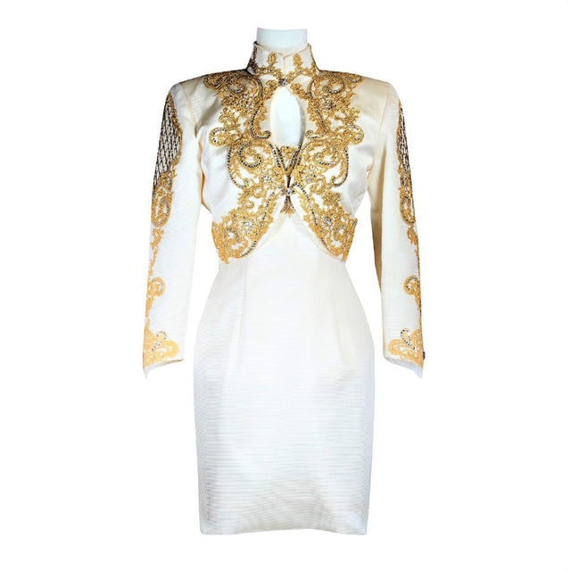 Yoly Muñoz Haute' Couture Embellished Dress & Jacket