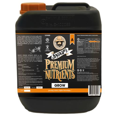 Snoop's Premium Nutrients Grow A Circulating 5 Liter (Hydro Recirculating) (4/Cs)