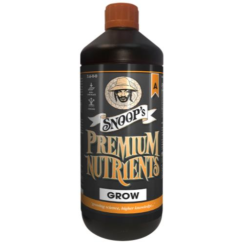 Snoop's Premium Nutrients Grow A Non-Circulating 1 Liter (Soil and Hydro Run To Waste) (12/Cs)