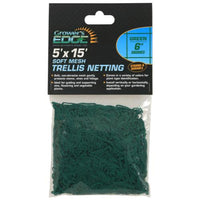 Grower's Edge Soft Mesh Trellis Netting 5 ft x 15 ft w/ 6 in Squares - Green (12/Cs)