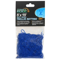 Grower's Edge Soft Mesh Trellis Netting 5 ft x 15 ft w/ 6 in Squares - Blue (12/Cs)