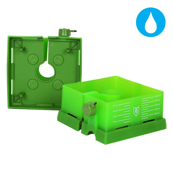 Square Flood and Drip Shied + Gravity Dripper