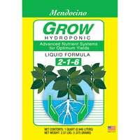 Grow More Mendocino Grow Hydroponic, qt