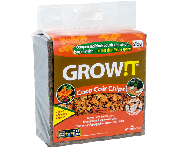GROW!T Organic Coco Coir Chips, Block