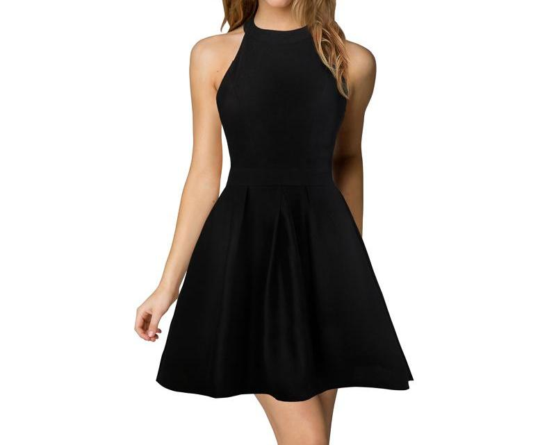 Night Out A-Line Black Dress