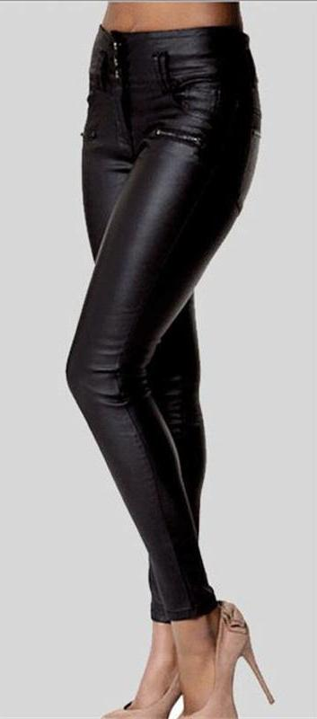 Leather Slim Pants