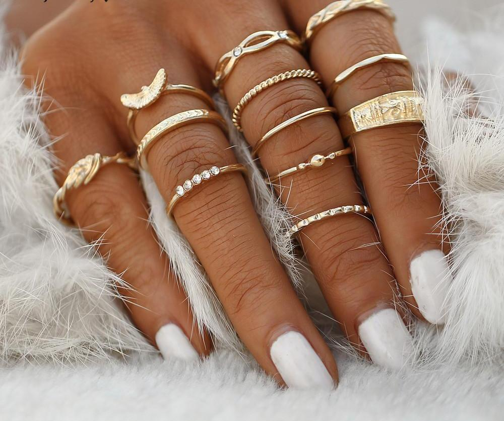 Charm Midi Finger Ring Set