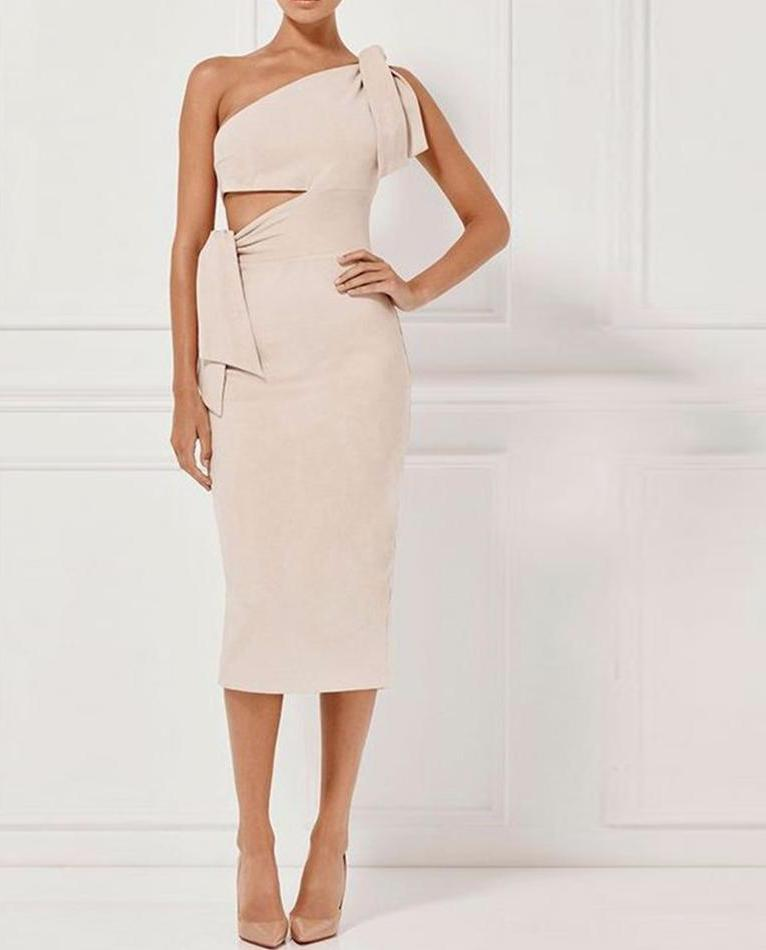 Bandage One shoulder Dress