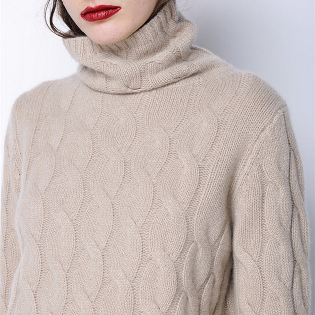 High Collar Cashmere Sweater