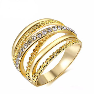 Gold Color Zirconia Ring