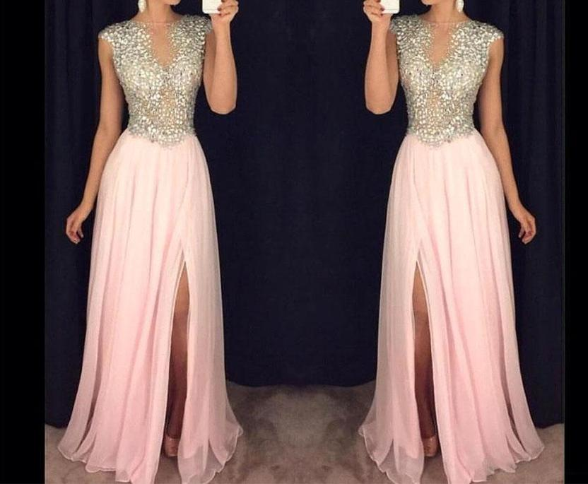 Rhinestones Prom Dress