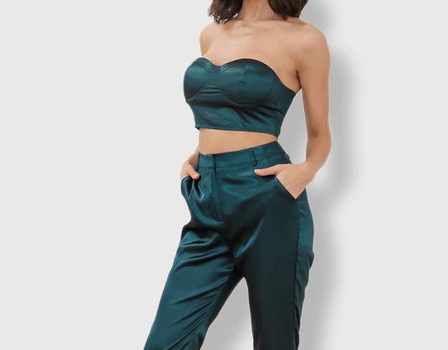 High Waist Pants Two Piece Set