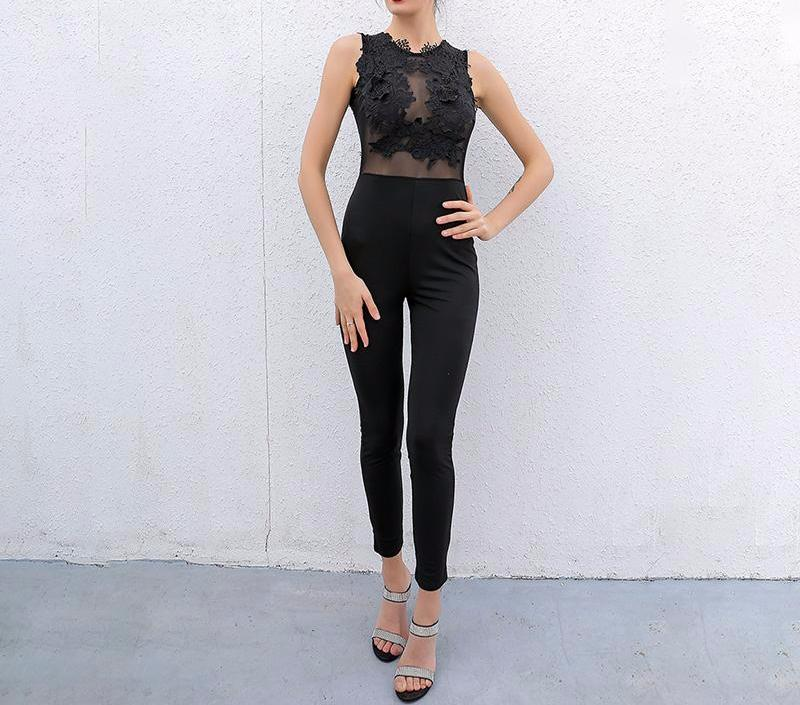 Lace Stitch Jumpsuit