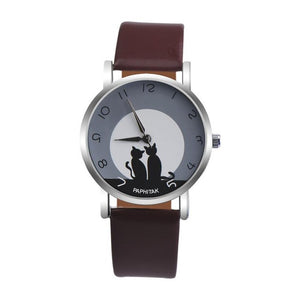 Lovely Cat Pattern Watch  Women