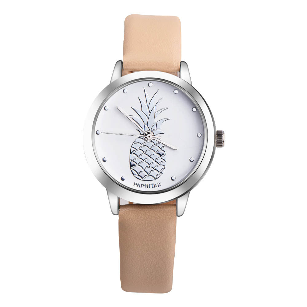 Pineapple Leather Band Watch