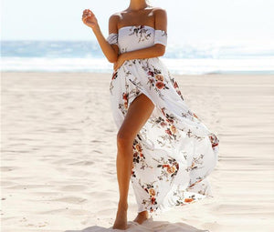 Off The Floral Shoulder Maxi Dress