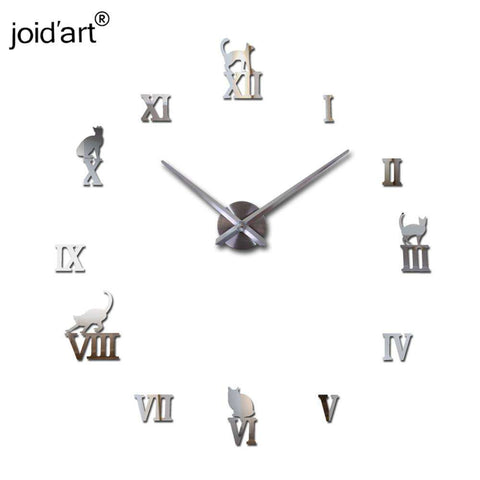 Large 4 foot decorative wall clock 10 Colors