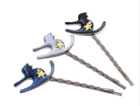 3 Pcs Needle Star cat Hair Clips