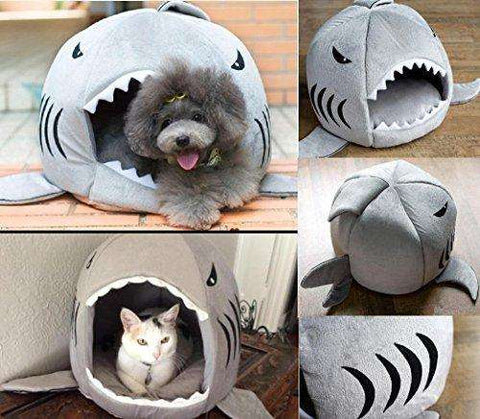 Warm Cozy Shark Cat & Dog House