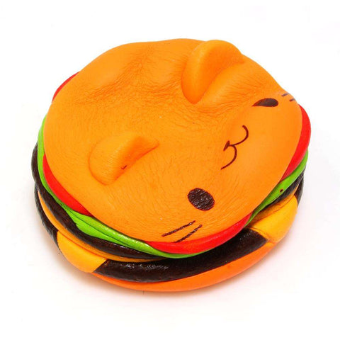 Squishy Squeeze Hamburger Cat Toy