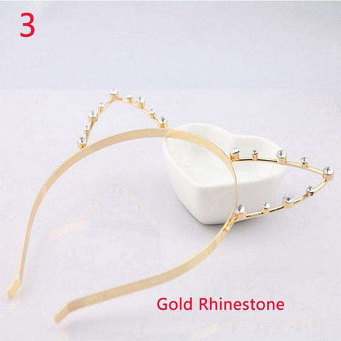 Cat Ears Rhinestone Hairband