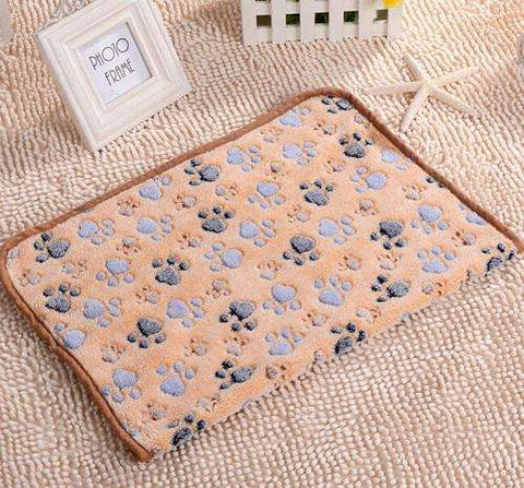 Soft Paw Print Fleece Blankets For Cats