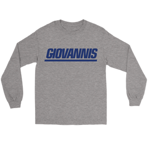 Giovannis Blue NY Style Long Sleeve Tee