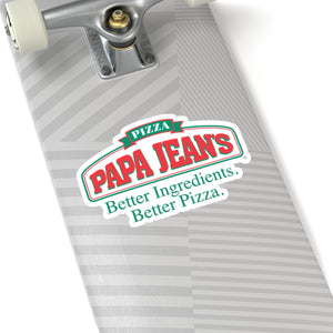 Papa Jean's Kiss-Cut Stickers