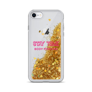 Stay True Pink Logo Liquid Glitter Phone Case