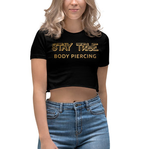Stay True - Gold Crop Top
