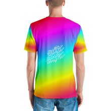 Weaker Rainbow All-Over Print White Text