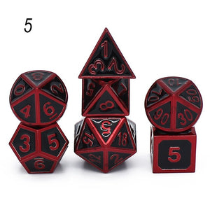 metal dice rpg game dnd dices set rpg polyhedral solid dice table games Zinc alloy digital d&d dice 7pcs d4 d6 d8 d10 d12 d20