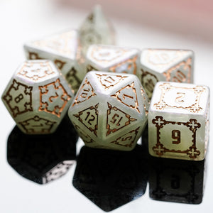 7 Pcs 25mm Giant DND Dice, Polyhedral Dice Set with Wooden Box, D&D Dice for Dungeons and Dragons Pathfinder RPG MTG(Gray Green)
