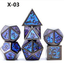 Metal Dice Set 7PCS/Set Polyhedral Dices  Dnd Board Game Dyses Dados Rpg Purple Digital Dice D4 D6 D8 D10 D12 D20 Dobbelstenen