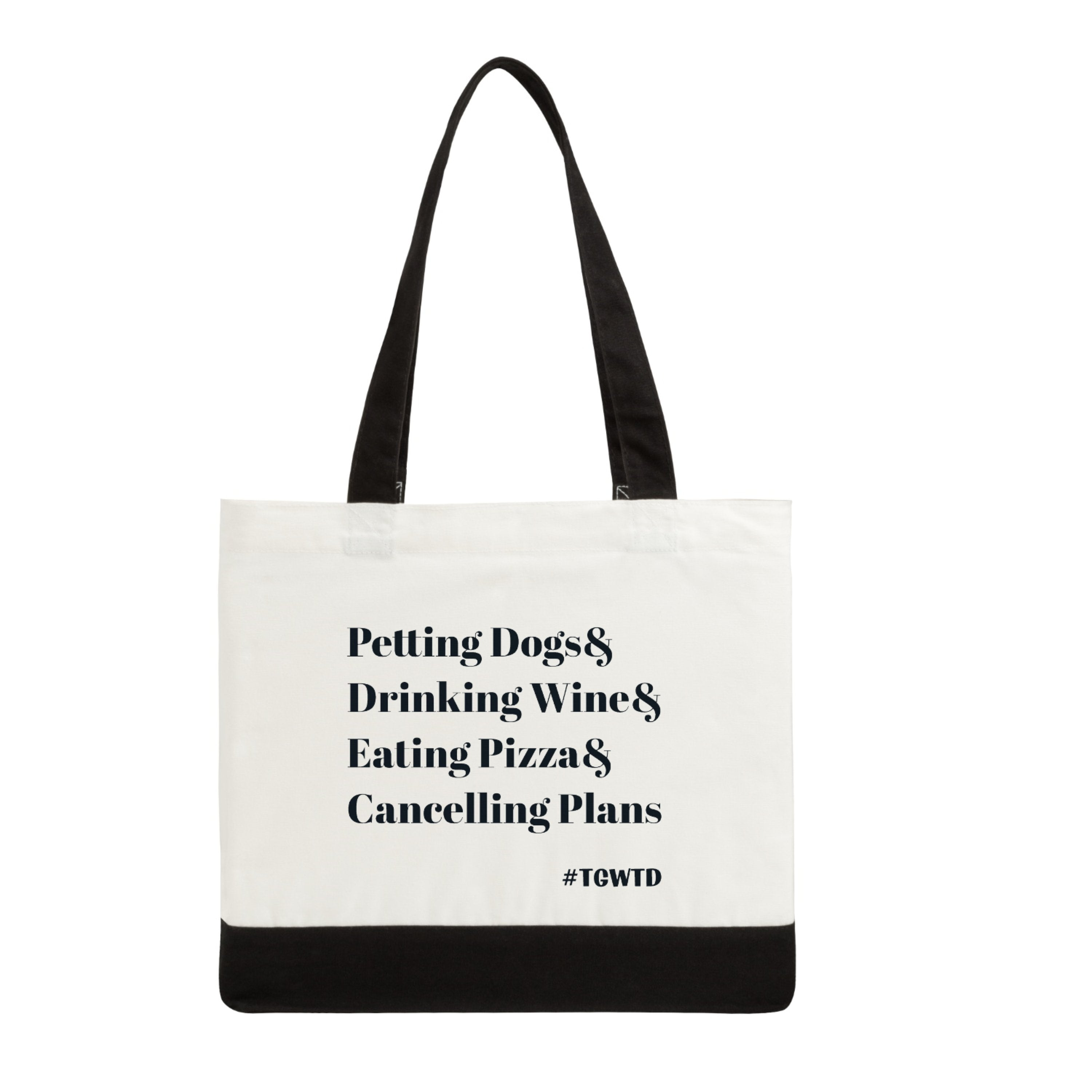 PETTING DOGS& canvas tote