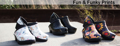 Fun & Funky Prints  Clogs by C & C Sweden