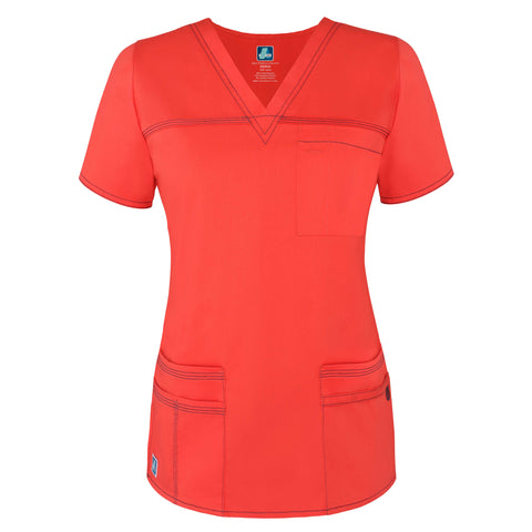 3202 POP-STRETCH JUNIOR FIT TASKWEAR SCRUB TOP By Adar