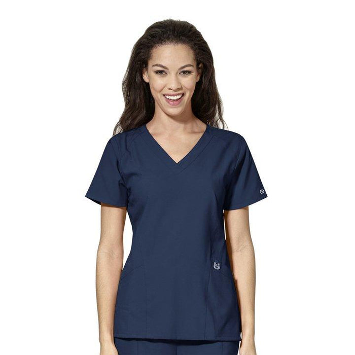 W123 V-Neck Scrub Top (6155)