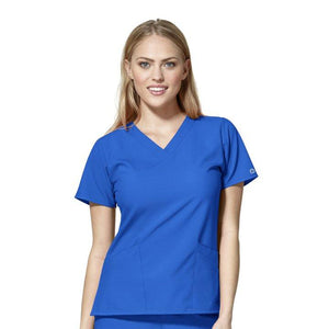 W123 Women's Basic V-neck Top - Grace Health Scrubs, LLC