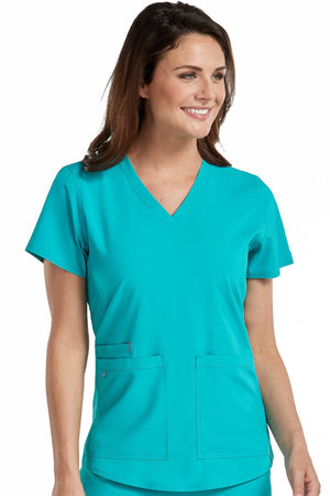 Racerback Shirttail Serena Top - Grace Health Scrubs, LLC