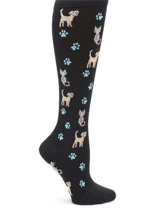 Nurse Mates Compression Socks - Pets n Paws Wide Calf