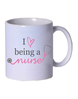Love Being a Nurse Coffee Mug - Grace Health Scrubs, LLC