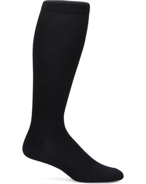 Nurse Mates Men's Compression Socks - Solid Black-Compression Socks-Nurse Mates-Grace Health Scrubs, LLC