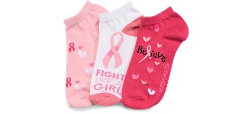 Pink Believe 3-pack anklets-Nurse Mates-Ankle Socks-Nurse Mates-Grace Health Scrubs, LLC