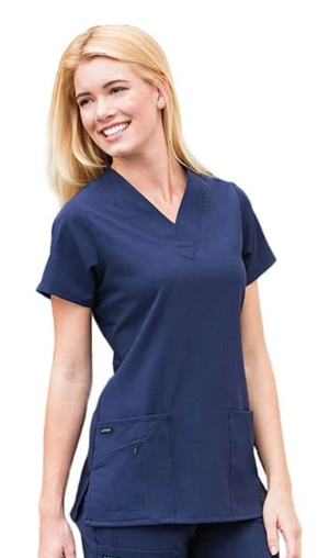 Jockey Ladies Favorite V-Neck Top Navy