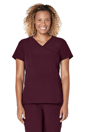 ADAR Addition Women's Straight Mock Wrap Top