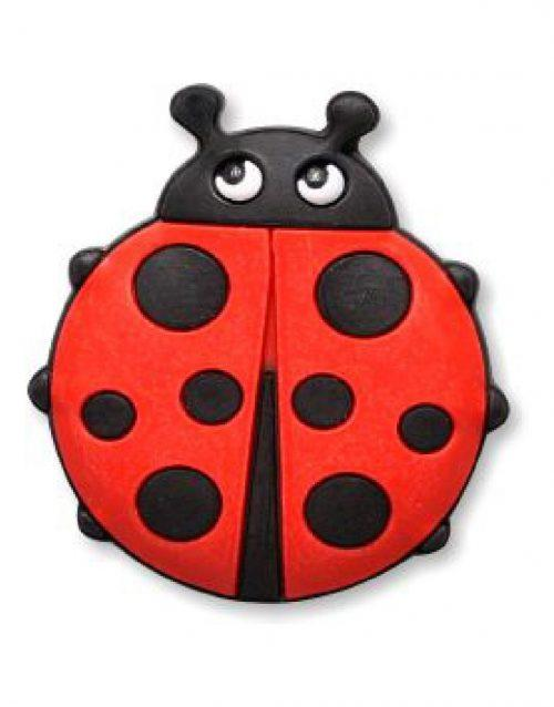 3D Rubber Retractable Badge-Lady Bug