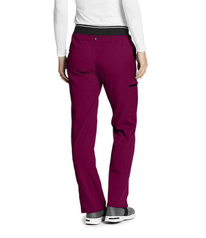Women's Kim Colorblock Scrub Pant Wine