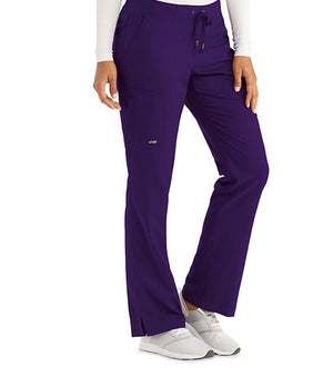 Grey's 6 Pocket Tie Front Pant Purple